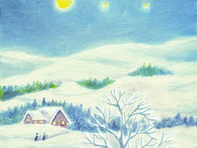 044: Winterlandschaft, nachts (II)