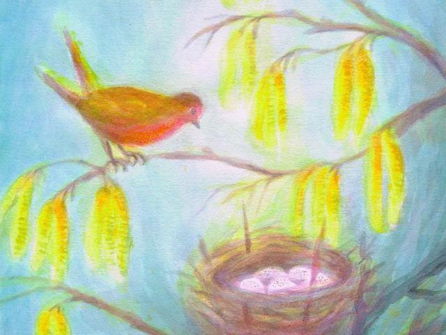 064: Vogel am Nest
