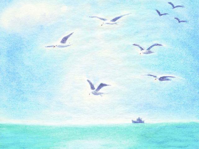 094: Möwen über Meer