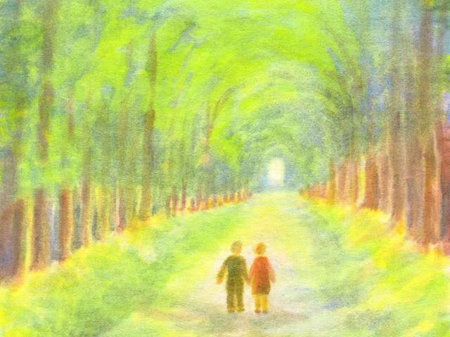 114: Sommerallee, Spaziergang zu zweit