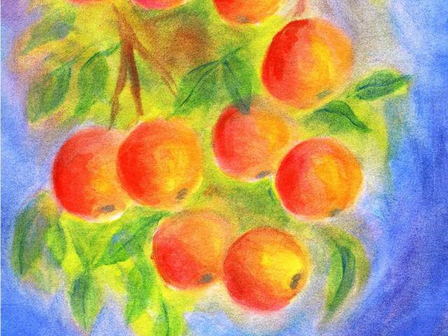 124: Äpfel am Ast