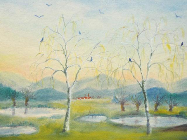 145: Birken im Vorfrühling
