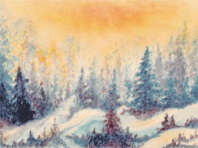 182: Verschneiter Winterwald