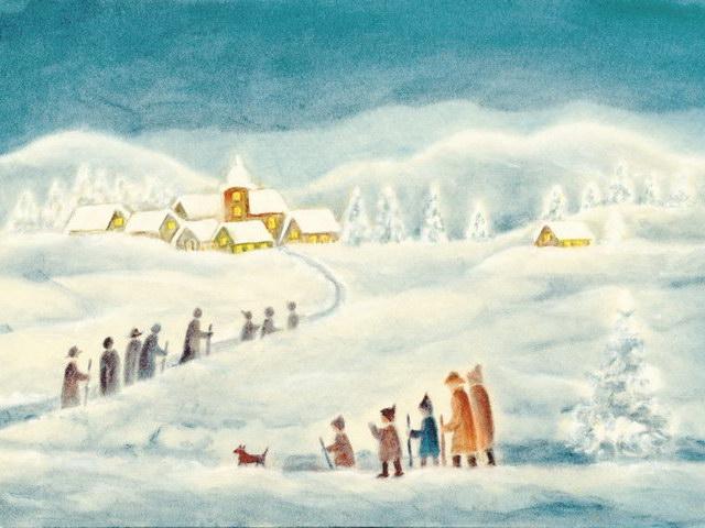 183: Kirchgang im Schnee