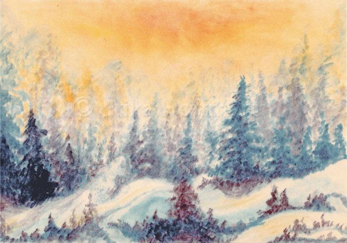 182_Verschneiter Winterwald