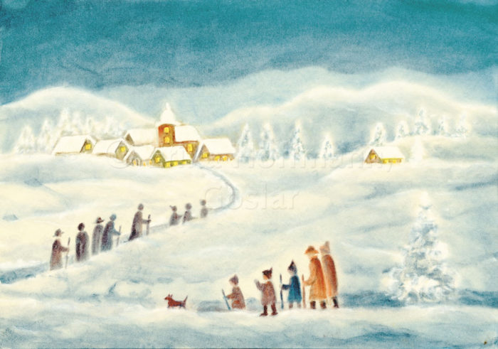 183_Kirchgang im Schnee