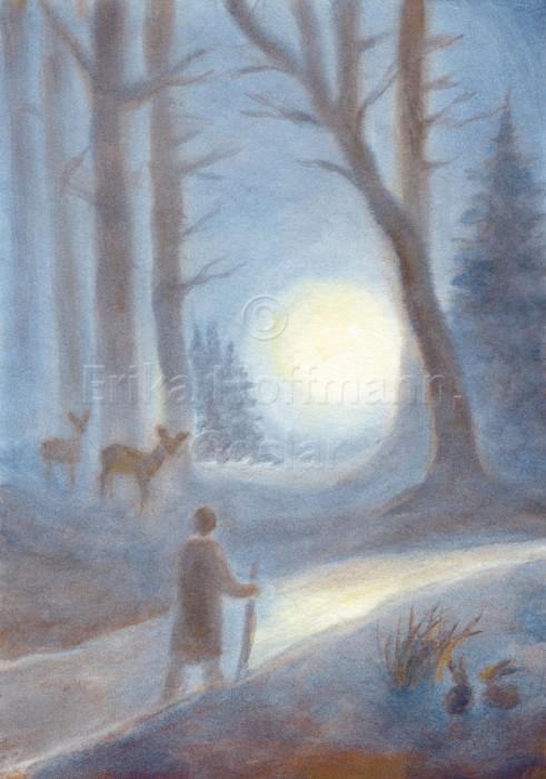 005_Wanderer im Winterwald