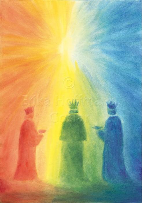 046_Drei Koenige, Regenbogenfarben
