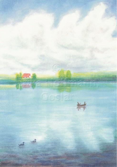 091_Sommerwolken ueber Fluss