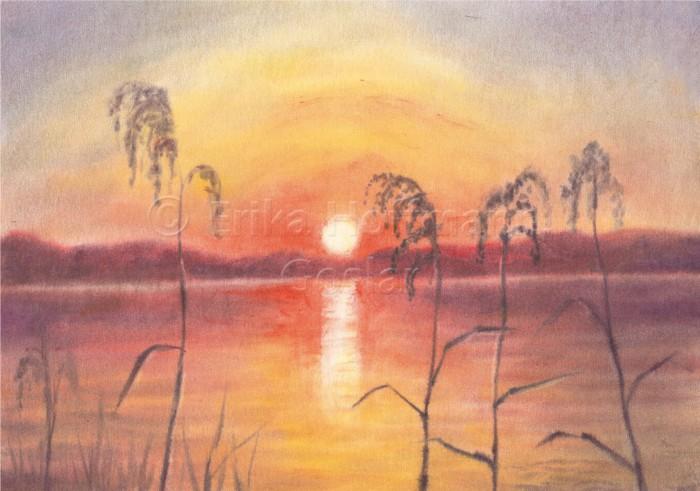 156_Sonnenuntergang am Ufer
