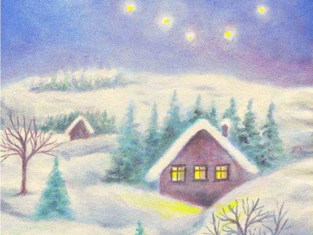 043: Winterlandschaft, nachts (I)