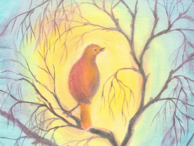 061: Vogel im Geäst