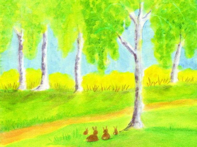 087: Frühlingsbirken, Häschen