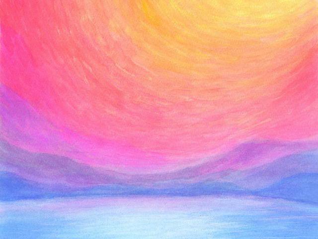 112: Landschaft, Regenbogenfarben