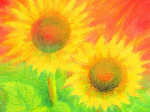 122: Zwei Sonnenblumen
