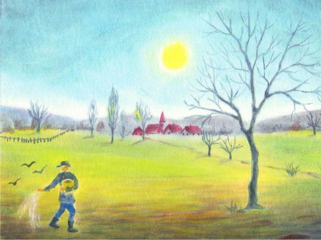 142: Windmühle mit Wolke