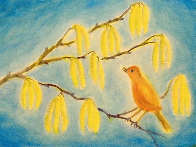 186: Vogel auf dem Ast