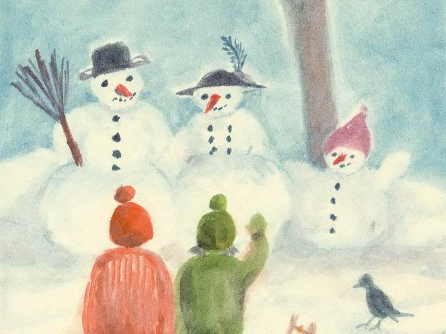 208: Drei Schneemänner